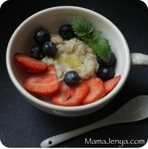 овсяная каша овсянка завтрак ягоды