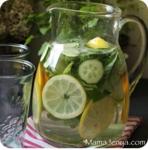 вода сасси освежающий напиток летний напиток огурец лимон мята