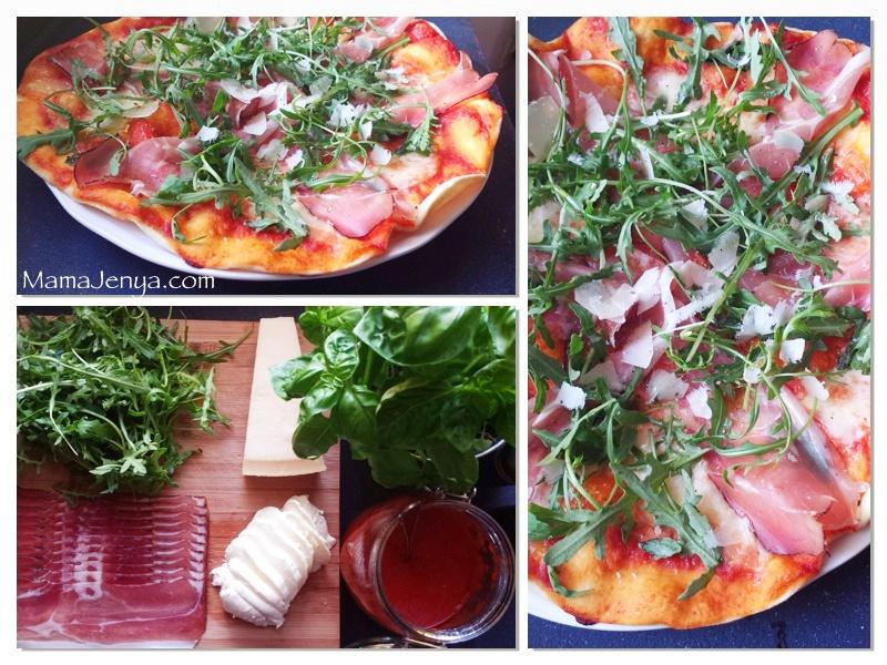 Пицца с прошутто, рукколой, пармезаном Рецепт с фото