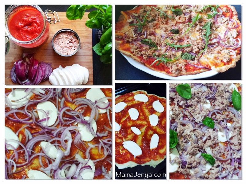 Pizza al tonno Пицца с тунцом рецепт с фото