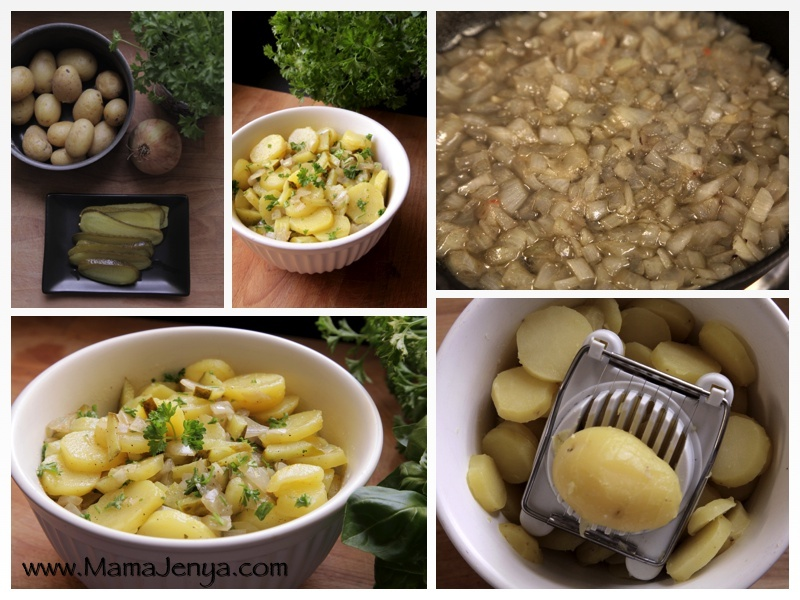 Немецкий картофельный салат рецепт с фото