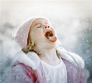 Снежинка на языке