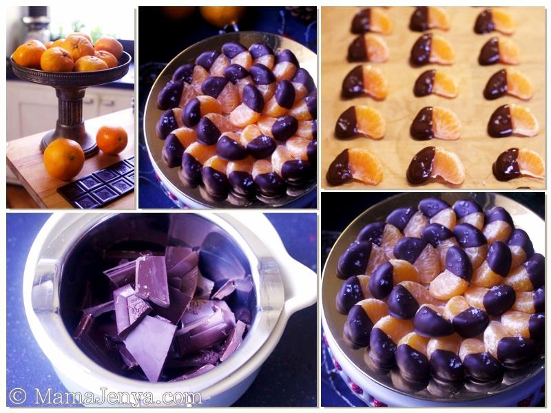 Мандарины с шоколадом