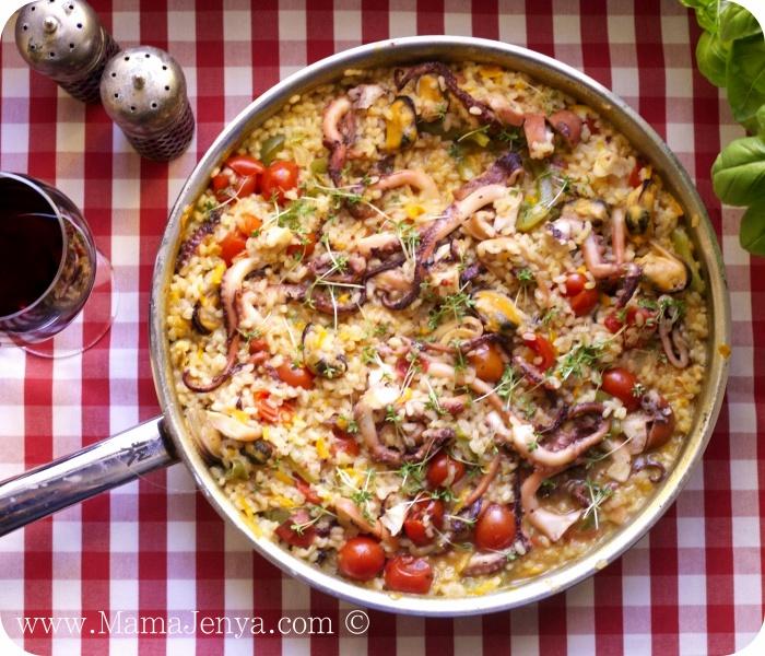 Рис с морепродуктами по-португальски