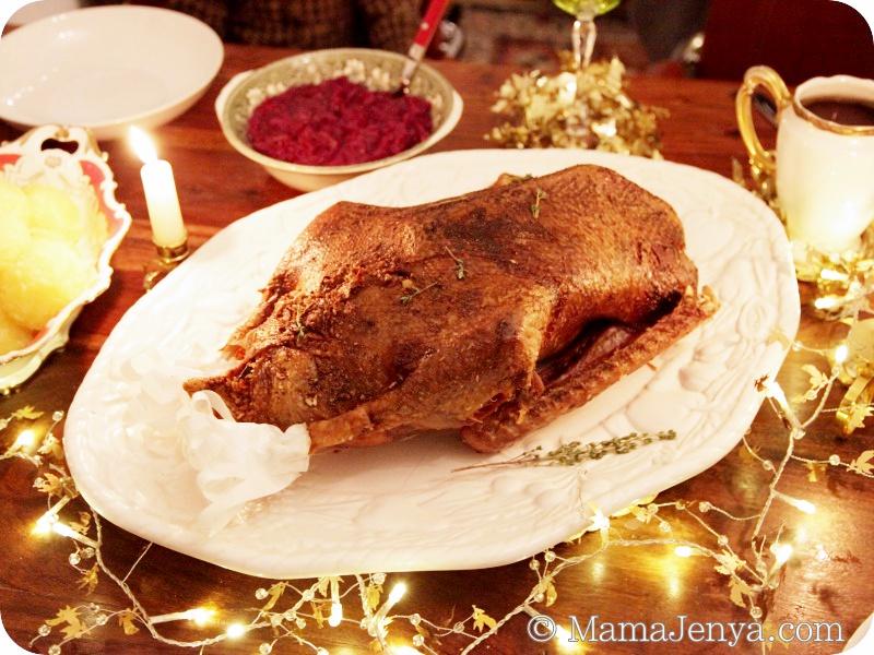 Рождественский гусь рецепт с фото