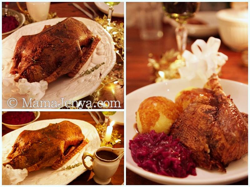 рецепт жаренного гуся с медовой корочкой с фото