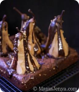 Шоколадный брауни с грушами рецепт с фото