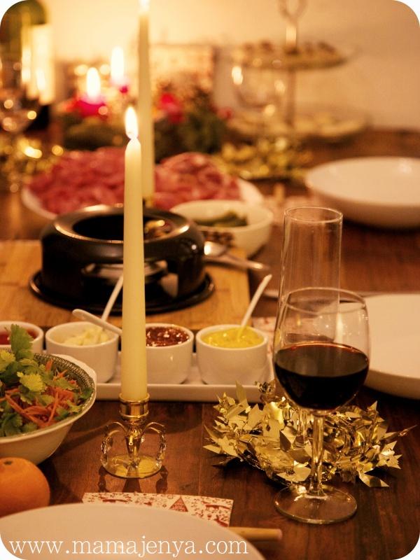 Рождественский стол. Фондю