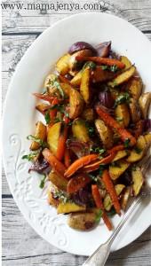 Запеченные овощи с бальзамиком