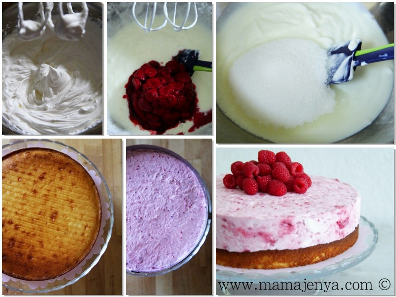 Малиновый торт суфле