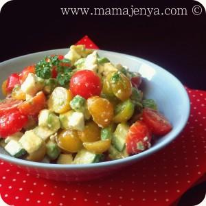 Овощной салат с фетой и авокадо рецепт