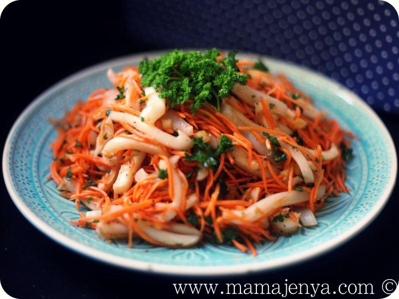 Хе из кальмара с морковью рецепт с фото