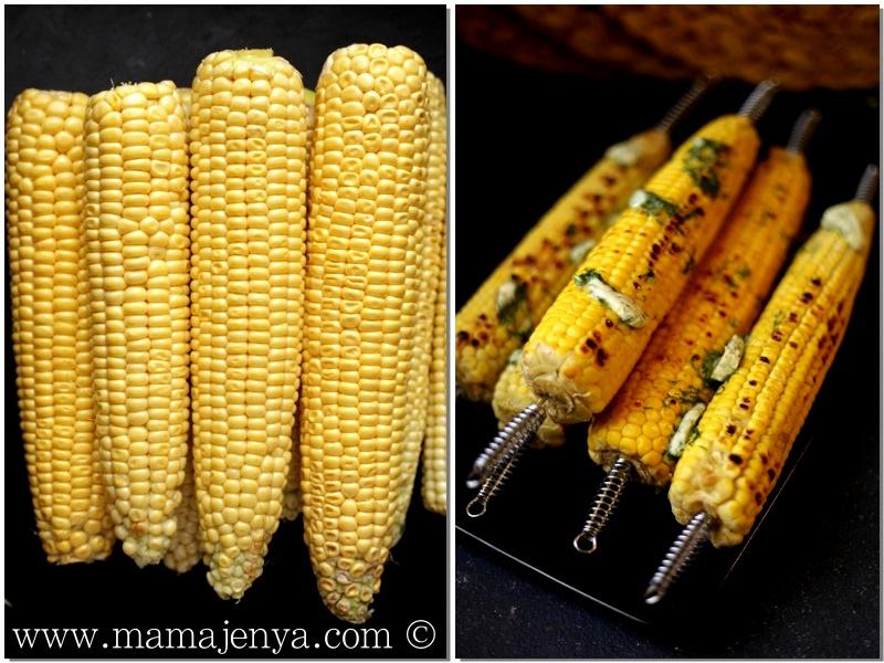 Кукуруза с укропным маслом