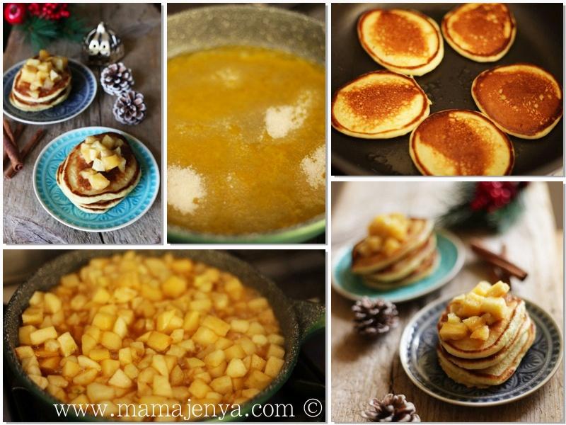 Оладьи на кефире с яблоками рецепт