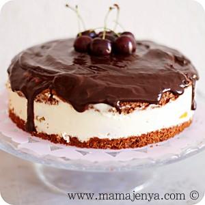 Торт Сливочный персик рецепт с фото