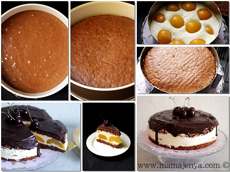 Торт Сливочный персик