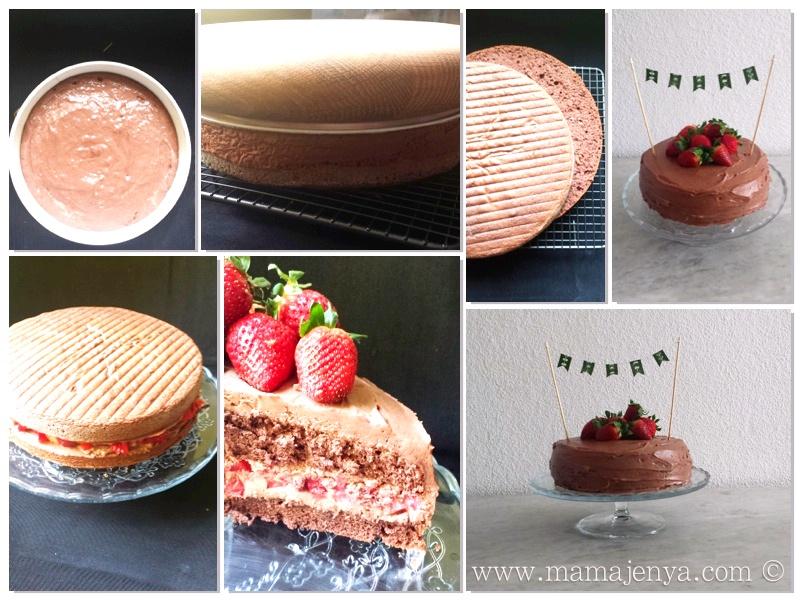 Шоколадный торт с клубникой 2