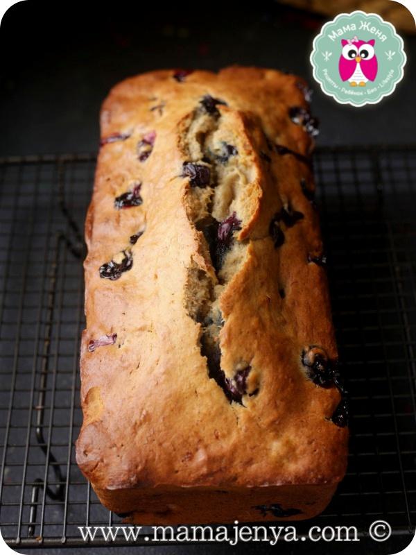 Банановый пирог с черникой Евгения рецепт с фото